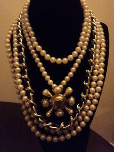 Vintage Multi layer Creamy Glass Pearl by DesignerVintage15, $150.00