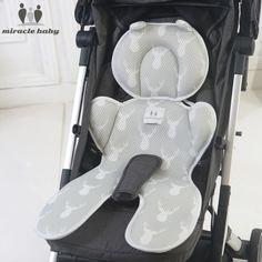 Sheepskin Liner Pushchair  Pram Car Seat Liner Mat for Five-Point Harnes **Boy**