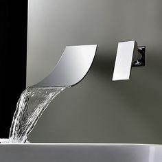 Waterfall Widespread Bathroom Sink Faucet