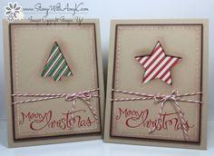 Sassy Salutations Die Cut Christmas Cards
