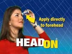 Head On - Annoying Headache Commercial 2006 USA
