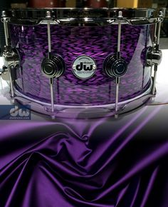 PURPLE-SILK-ONYX. #dwdrums ok it's the same colour a my grad dress. I want a snare this colour