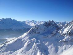 View form Piz Nair, St.Moritz, Switzerland