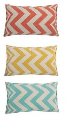 Love this chevron pattern. I have the blue and yellow for my pillows and green for my studio chairs! Yay fabric depot!