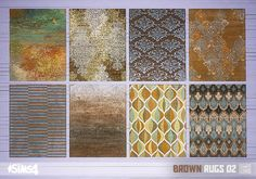 Oh My Sims 4 - Brown Rugs 02