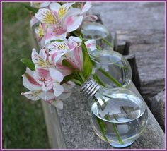 Turn a lightbulb into a vase