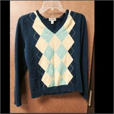 Gargoyle blue and neon green pullover cardigan Great shape Cherokee Sweaters Cardigans