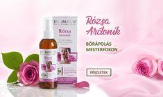 A DR. IMMUN® Rózsa arctonik 100%-ban természetes alapanyagokból készült, színezék és illatanyag mentes készítményt az érzékeny bőrűek nyugodt szívvel használhatják.  Hidratálja, tökéletesen tisztítja és felfrissíti a bőrt, mely kellemes érzést biztosít. A rózsaszirmok, csipkebogyó és az aloe vera gondoskodnak arról, hogy bőrünk az ápolt és tökéletes legyen. Aloe Vera, Wine, Bottle, Blog, Flask, Blogging, Jars