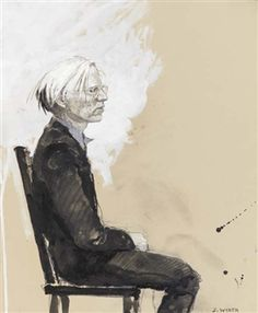 Andy Warhol-Profile Seated By Jamie Wyeth