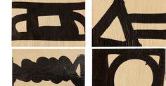 """Al Held. """"Brushstrokes"""" Survey of 29 works at Van Doren Waxter, May 12- July 8, 2016."""