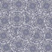 TARDIS Console Schematic Blue - jennofalltrades - Spoonflower