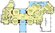 Dream Home Plan with Heart-Shaped Bedroom - floor plan - Main Level Dream Home Plan with Heart-Shaped Bedroom - floor plan - Main Level Luxury House Plans, Dream House Plans, House Floor Plans, Architectural Design House Plans, Architecture Design, Built In Buffet, Grand Foyer, Garden Tub, Thing 1