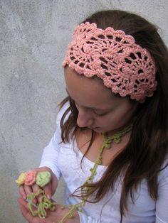 Crochet HeadBand Hand Crochet Hairband Women's por ARTcrochet