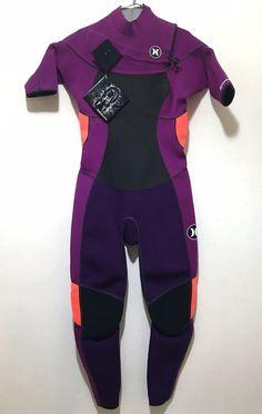 Hurley Womens Full Body Wetsuit Ladies Size 8 Phantom 2:2 NWT Purple #Hurley