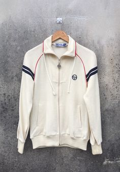 Excited to share this item from my shop: SERGIO TACCHINI Track Top Jacket / Casual / Casual Subculture / Full Zipper Sweater / Sergio Tacchini Sweater / Medium 80s And 90s Fashion, Fashion Men, Keith Haring Shirt, Sergio Tacchini, Vintage Sweaters, Used Clothing, Sweater Jacket, Vintage Designs, Casual Wear
