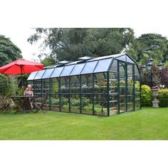 Palram Serre de Jardin Polycarbonate et PVC 5 x m & Grand Gardener Greenhouse Academy, Outdoor Greenhouse, Cheap Greenhouse, Greenhouse Effect, Greenhouse Interiors, Backyard Greenhouse, Greenhouse Wedding, Greenhouse Plans, Portable Greenhouse