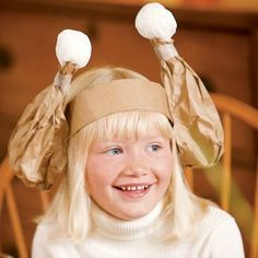 Kids Thanksgiving turkey hat/crown made with brown paper bags