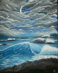 artist: #AshleyGallery 16x20 acrylic on canvas $120 #StormsaCommin