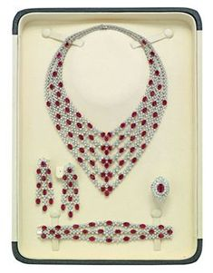 RUBY AND DIAMOND PARURE, BY ELIE CHATILA   yes rubies my favorite