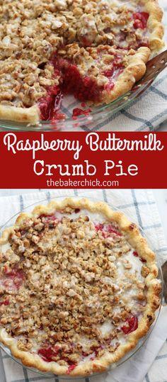 Raspberry Buttermilk Crumb Pie