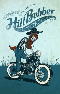 Bluegrass Hill Bobber Motorcycles Poster Design By - MartinHofmann.com - http://www.youmotorcycle.com