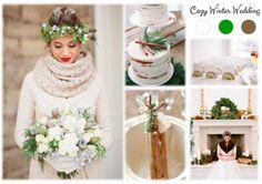 Inspiration Board: Cozy Winter Wedding Inspiration Boards, Simple Weddings, Cozy Winter, Table Decorations, Easy, Snow, Home Decor, Decoration Home, Cosy Winter