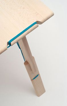 a collection of furniture comprising interchangeable components lashed together with string  by Aïssa Logerot