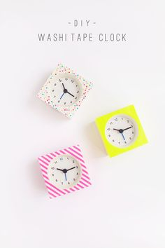 DIY-Washi-Tape-Clock.--This-craft-is-super-simple-and-costs-less-than-$5-to-make