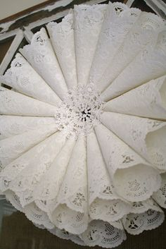 A Diamond in the Stuff: Paper Doily Wreath