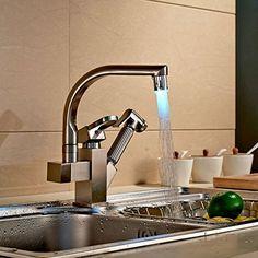 Rozinsanitary Brushed Nickel LED Swivel Spout Kitchen Sink Faucet Pull Out Spray Mixer Tap Rozin http://www.amazon.com/dp/B00MB6NEFY/ref=cm_sw_r_pi_dp_QZnIvb0FBMDPK