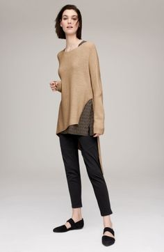 Main Image - Eileen Fisher Pullover & Moto Pants Outfit with Accessories