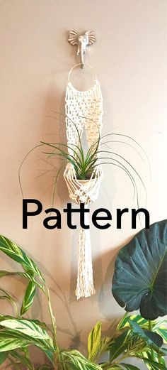This Listing is for the Macramé Pattern to make the above Wall Plant Hanger Little Venus. *This also includes my Beginners Knots and Techniques Handbook.* The knots used for this project are the Lark's Head Knot, the Square Knot, the Alternating Square Knot and the Wrapping Knot.