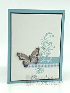 It's Card Swap Sunday and today I'm sharing a card I made for a swap using products from the Sale-a-bration brochure and Occasions Catalogue. My card uses the beautiful Beauty Abounds Stamp Set from the Occasions Catalogue and the Botanical. Homemade Greeting Cards, Greeting Cards Handmade, Homemade Cards, Butterfly Birthday Cards, Butterfly Cards, Stampin Up Catalog, Mothers Day Cards, Card Sketches, Sympathy Cards