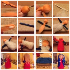 Diy maría y Wool Needle Felting, Needle Felting Tutorials, Wet Felting, Waldorf Crafts, Waldorf Dolls, Wool Dolls, Felt Dolls, Diy Laine, Felt Fairy