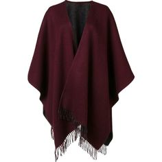 Rag & Bone fringed ends shawl scarf ($625) ❤ liked on Polyvore featuring accessories, scarves, cardigans, jackets, poncho, wool shawl, fringe shawl, shawl scarves, fringe scarves and red scarves