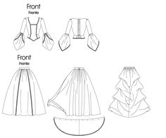 Free Kitten Patterns | ... Dress Wedding Gown Costume Sewing Pattern Size 14 16 18 20 | eBay