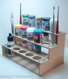 Do you often find it hard to organise your paints?  This is MDF Paint Rack will help you organise your paints so they are easy to find. Great for…