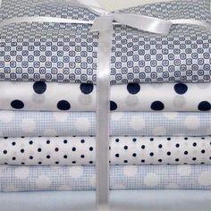 "Kit de tecidos ""Azul Geométrico"""