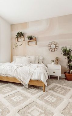Dreamy Bedroom Wallpaper - Watch the soft and subtle hues of this abstract wallpaper coat your walls in peace and serenity. This removable bedroom wallpaper is dreamy and perfect for renters!