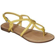Women's Merona® Emily Braided Strap Gladiator Sandal - Yellow ($15) ❤ liked on Polyvore