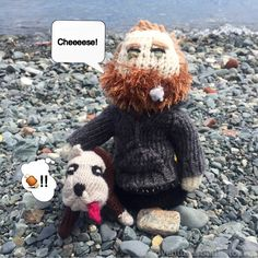 We're a bit like Wallace and Gromit - both of us love cheese and I have trouble getting up out of bed in the morning. #TomHardy #dogs #beach