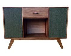 Record Player Stand and Media Console with Sliding by GraceModern