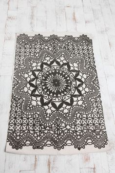 Doily rug from Urban Outfitters.