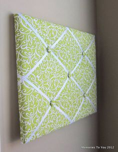 16x20 Memory Board Bow Holder Ribbon Board Green by MemoriestoYou