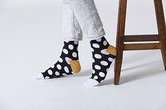Socks n Socks-Men's 5-pair Luxury Cotton Polka Dotted Dots Dress Socks