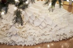 This DIY Christmas tree skirt is such an easy craft. DIY Christmas crafts made simple are a great way to craft with the family! With this tutorial from The Bewitchin' Kitchen homemade Christmas decorations are easier then you think (and it's no sew). All Things Christmas, Christmas Holidays, Christmas Crafts, Crochet Christmas, Christmas Angels, Cowboy Christmas, Xmas, Nutcracker Christmas, Country Christmas