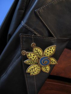 A fun brooch for my new leather jacket!! | Flickr - Photo Sharing!