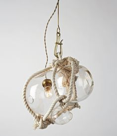 Knotty Bubbles Light — Lindsey Adelman #rope #modern #rustic #lighting