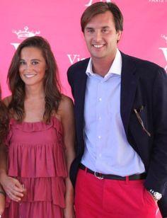 Pippa Middleton con el vizconde Arthur Soultrait | Sandro París dress