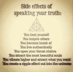 Speak truth - honor self - honor God Awakening Quotes, Spiritual Awakening, Positive Vibes, Positive Quotes, New Age, Positive Affirmations, Reiki, In This World, Decir No